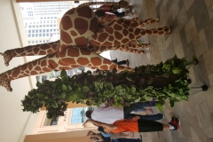 giraffe and tree stilts