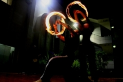fire dancers duo